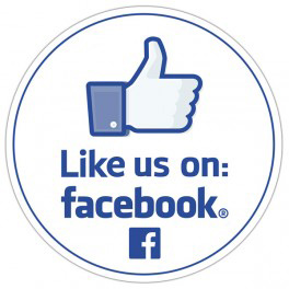 like us on facebook round sticker 35